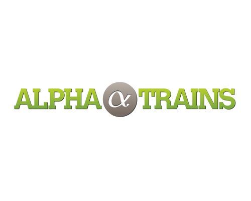 Logos | ALPHA_TRAINS_LOGO_SIGN_MONO_CMYK.EPS | © Alpha Trains