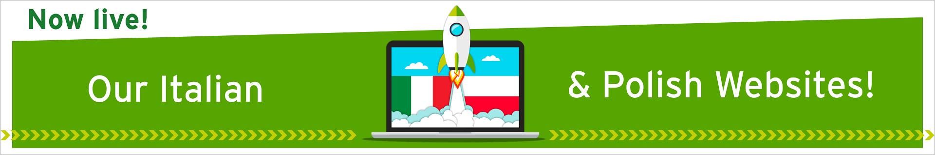 Nasze nowe włoskie i polskie strony internetowe są online...