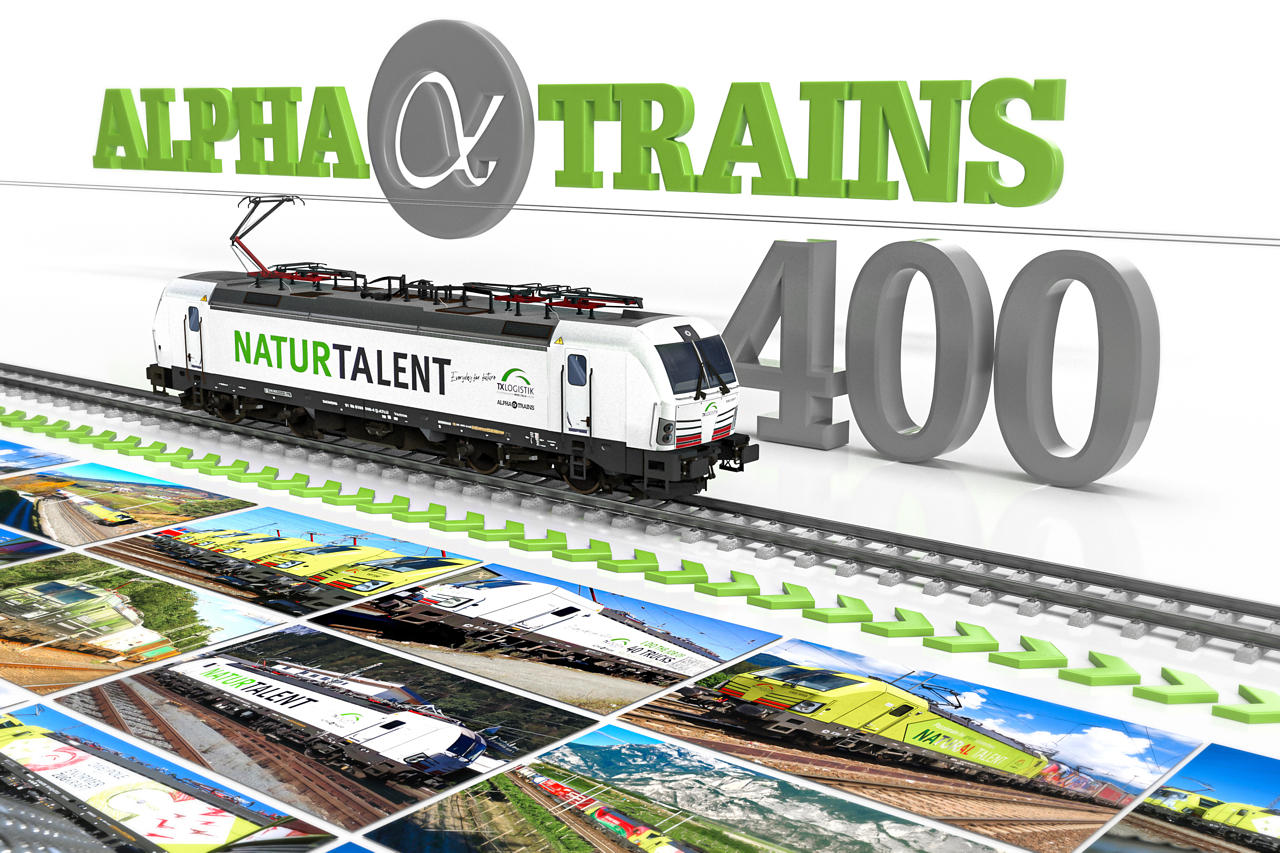 """A good reason to celebrate: """"Natural Talent"""" - Alpha Trains gets 400th locomotive on track© Alpha Trains"""