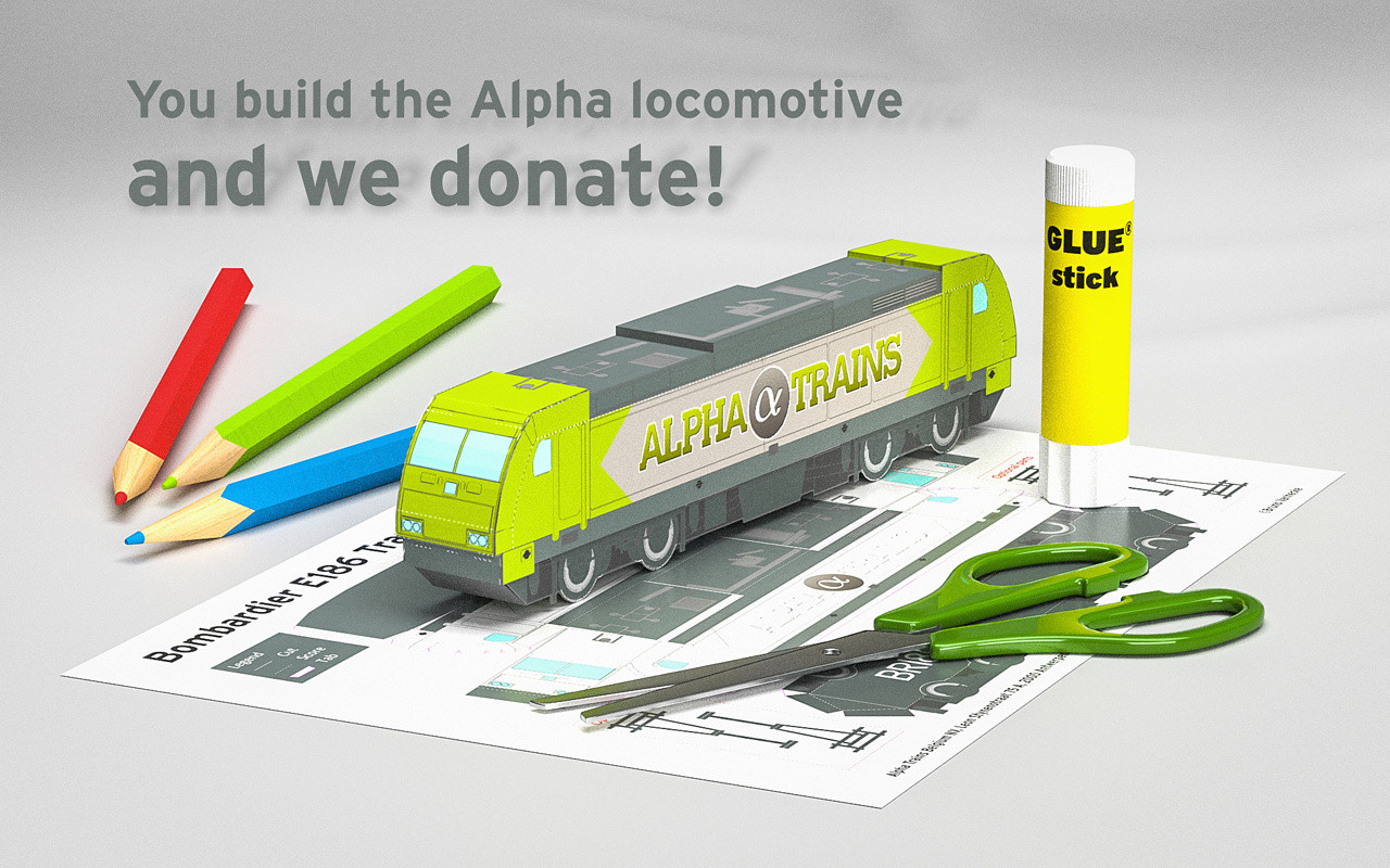 You build the Alpha locomotive – and we donate