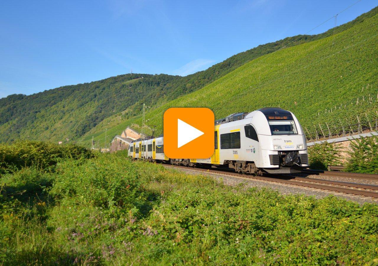 Zusätzliche Fahrzeuge ermöglichen größere Kapazitäten bei der Mittelrheinbahn