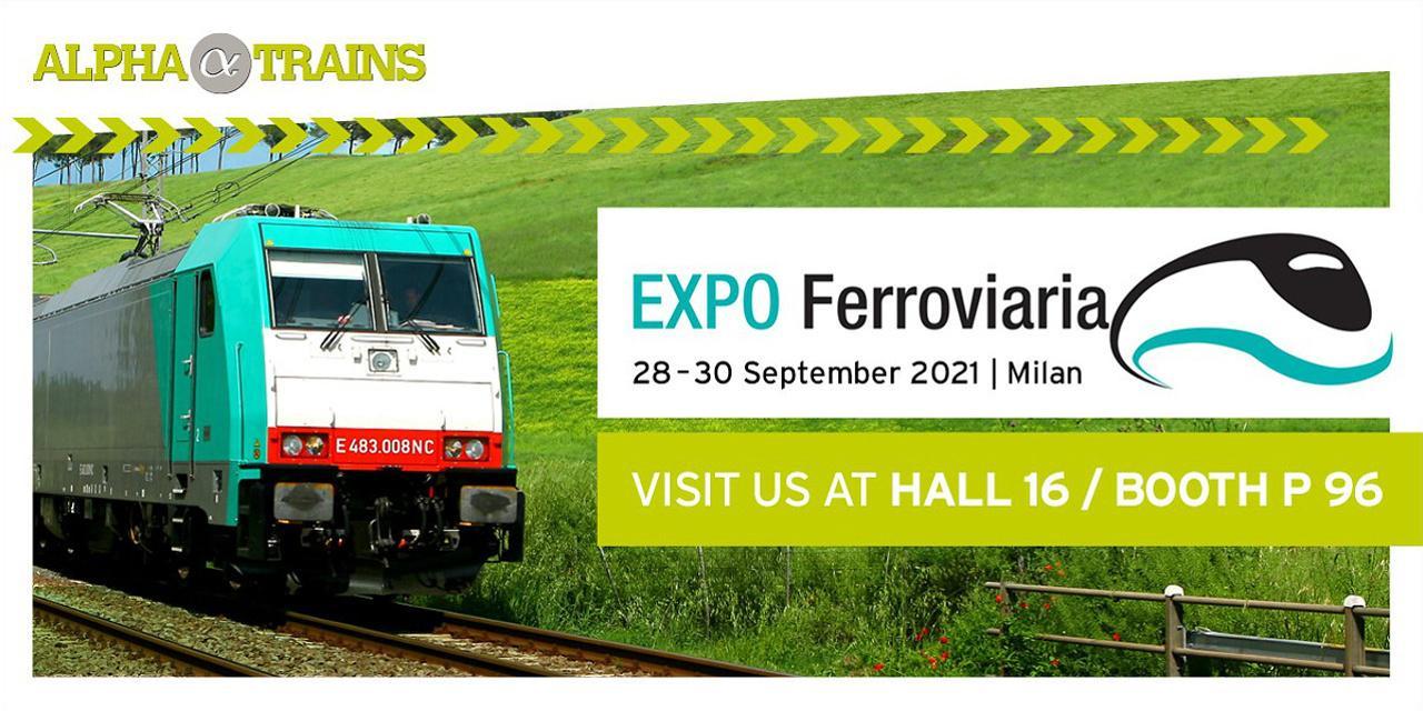 Venite ad incontrare il nostro team commerciale ad ExpoFerroviaria 2021