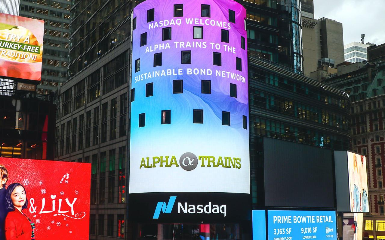We are proud to announce that Alpha Trains is part of the Nasdaq Sustainable Bond Network!